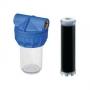 Filtru apa transparent cartus carbune activ 10 1/2 3/4